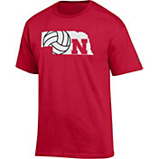 Champion Men's Nebraska Cornhuskers Scarlet Volleyball T-Shirt