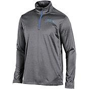 Champion Men's North Carolina Tar Heels Grey Knit Mesh Quarter-Zip Shirt