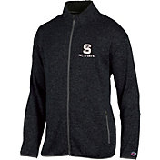 Champion Men's NC State Wolfpack Grey Playbook Full-Zip Jacket