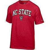 Champion Men's North Carolina State Wolfpack Red Word Logo T-Shirt