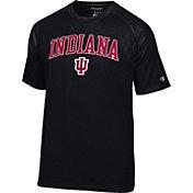 Champion Men's Indiana Hoosiers Black Logo T-Shirt