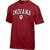 Champion Men's Indiana Hoosiers Crimson Word Logo T-Shirt