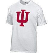Champion Men's Indiana Hoosiers White Big Logo T-Shirt