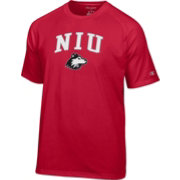 Champion Men's Northern Illinois Huskies Cardinal Logo T-Shirt