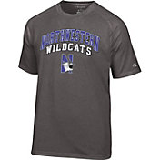 Champion Men's Northwestern Wildcats Grey Dual-Blend T-Shirt