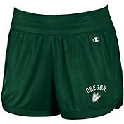 Champion Women's Oregon Ducks Green Endurance Shorts