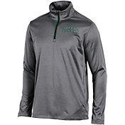 Champion Men's Oregon Ducks Grey Knit Mesh Quarter-Zip Shirt