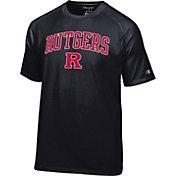 Champion Men's Rutgers Scarlet Knights Black Logo T-Shirt