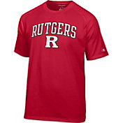 Champion Men's Rutgers Scarlet Knights Scarlet Logo T-Shirt