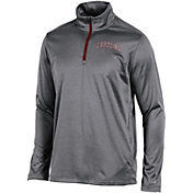 Champion Men's South Carolina Gamecocks Grey Knit Mesh Quarter-Zip Shirt