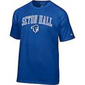 Champion Men's Seton Hall Seton Hall Pirates Blue Logo T-Shirt