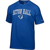 Champion Men's Seton Hall Seton Hall Pirates Blue Logo T-Shirt
