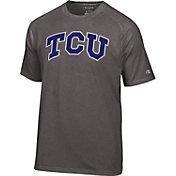 Champion Men's TCU Horned Frogs Grey Big Logo T-Shirt