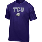 Champion Men's TCU Horned Frogs Purple Word Logo T-Shirt