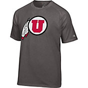 Champion Men's Utah Utes Grey Big Logo T-Shirt