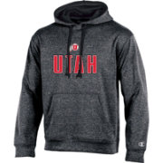 Champion Men's Utah Utes Grey Double Possession Pullover Hoodie