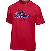 Champion Men's Tulsa Golden Hurricane Crimson Big Logo T-Shirt