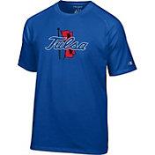 Champion Men's Tulsa Golden Hurricane Blue Logo T-Shirt