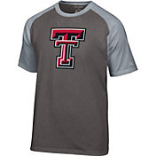 Champion Men's Texas Tech Red Raiders Grey Big Logo T-Shirt