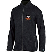 Champion Men's Virginia Tech Hokies Grey Playbook Full-Zip Jacket