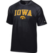 Champion Men's Iowa Hawkeyes Black Word Logo T-Shirt