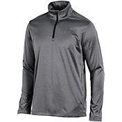 Champion Men's Wichita State Shockers Grey Knit Mesh Quarter-Zip Shirt