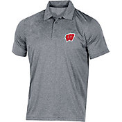 Champion Men's Wisconsin Badgers Grey Classic Polo