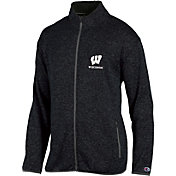 Champion Men's Wisconsin Badgers Grey Playbook Full-Zip Jacket