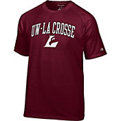 Champion Men's UW-La Crosse Eagles Maroon Logo T-Shirt