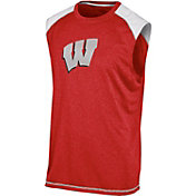 Champion Men's Wisconsin Badgers Red Muscle Tee