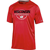 Champion Men's Wisconsin Badgers Red Training T-Shirt