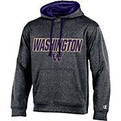 Champion Men's Washington Huskies Grey T-Formation Hoodie