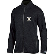Champion Men's Washington Huskies Grey Playbook Full-Zip Jacket