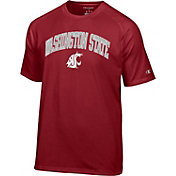 Champion Men's Washington State Cougars Crimson Word Logo T-Shirt