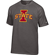 Champion Men's Iowa State Cyclones Grey Big Logo T-Shirt