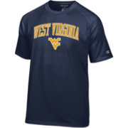 Champion Men's West Virginia Mountaineers Blue Word Logo T-Shirt