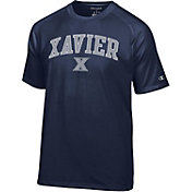 Champion Men's Xavier Musketeers Blue Word Logo T-Shirt