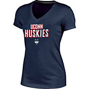 Champion Women's UConn Huskies Blue Success V-Neck T-Shirt