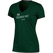 Champion Women's Colorado State Rams Green Success V-Neck T-Shirt