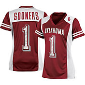 Champion Women's Oklahoma Sooners #1 Crimson Kick Off Football Jersey