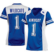 Champion Women's Kentucky Wildcats #1 Blue Kick Off Football Jersey