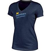 Champion Women's Michigan Wolverines Blue Success V-Neck T-Shirt