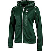 Champion Women's Michigan State Spartans Green Student Section Full-Zip Hoodie
