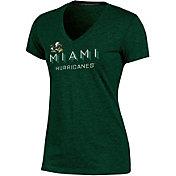 Champion Women's Miami Hurricanes Green Success V-Neck T-Shirt