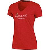 Champion Women's Maryland Terrapins Red Success V-Neck T-Shirt