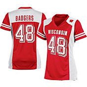Champion Women's Wisconsin Badgers #48 Red Kick Off Football Jersey
