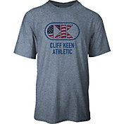 Cliff Keen Adult MXS Performance Stretch Flag Logo Wrestling T-Shirt