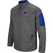 Colosseum Men's Boise State Broncos Grey Anchor Full-Zip Jacket