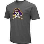 Colosseum Men's East Carolina Pirates Grey Dual Blend T-Shirt