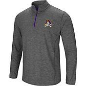 Colosseum Men's East Carolina Pirates Grey Action Pass Quarter-Zip Shirt